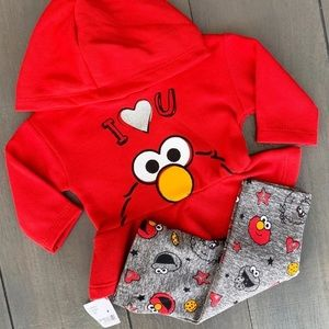 0-3M Elmo 2 Piece Matching Outfit Set